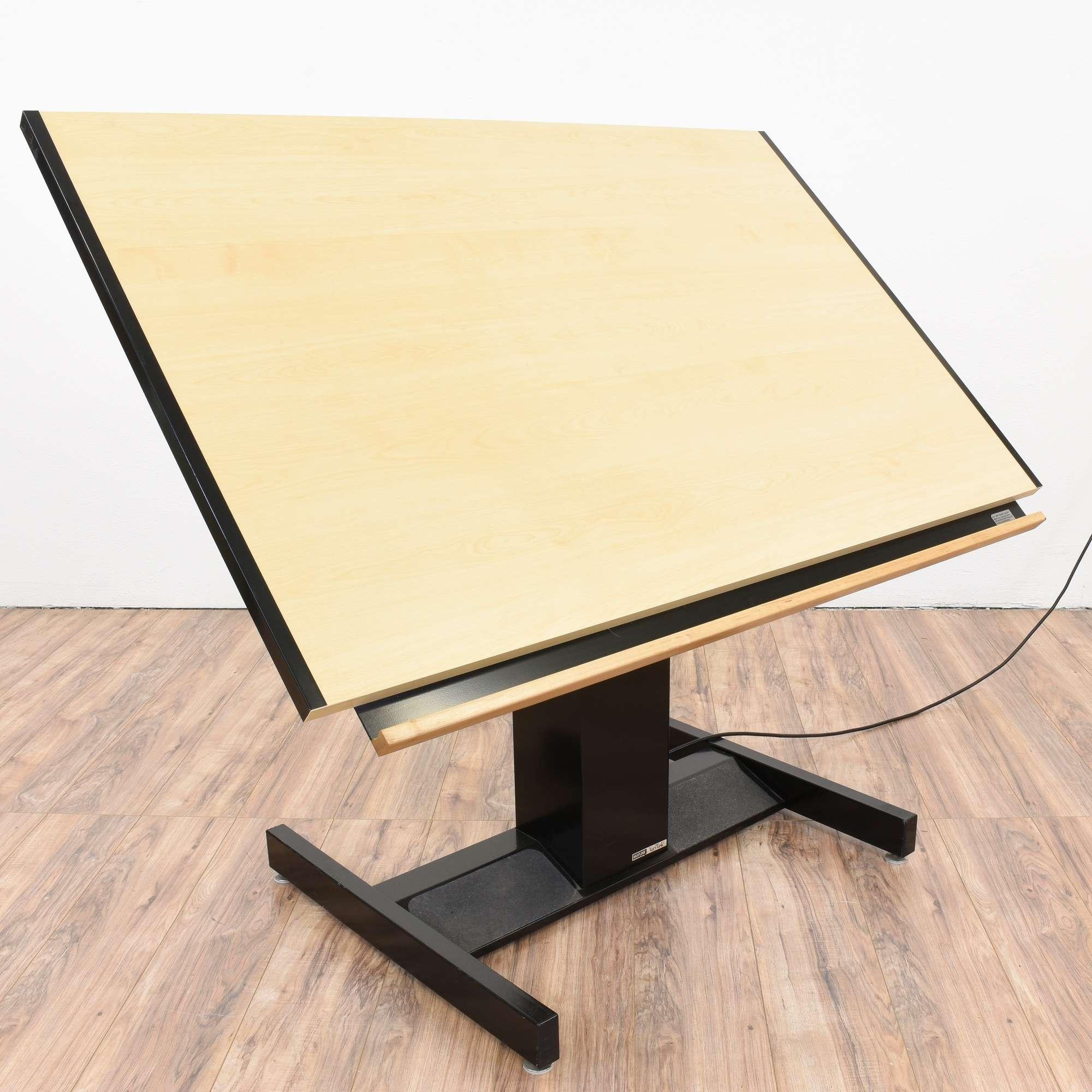 Mayline VariTask Electric Drafting Table Loveseat Vintage - Electric drafting table