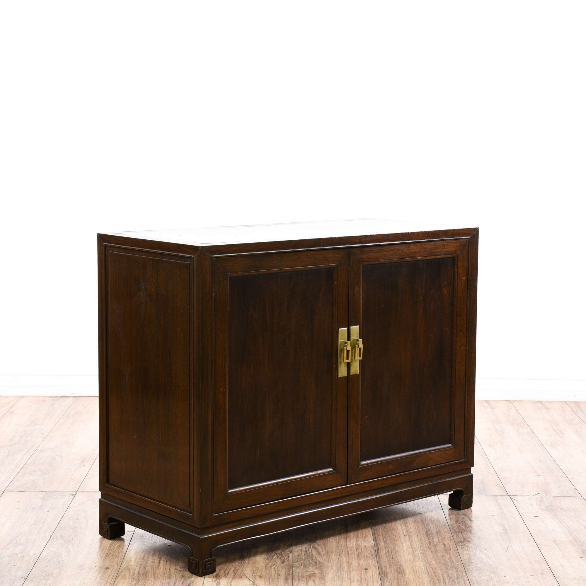 2 Door Asian Style Cabinet End Table