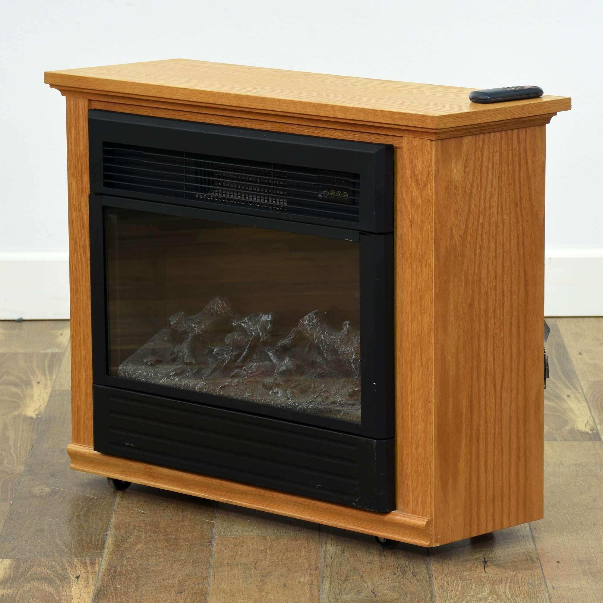 Heat Surge Electric Fireplace Loveseat Vintage Furniture San Diego