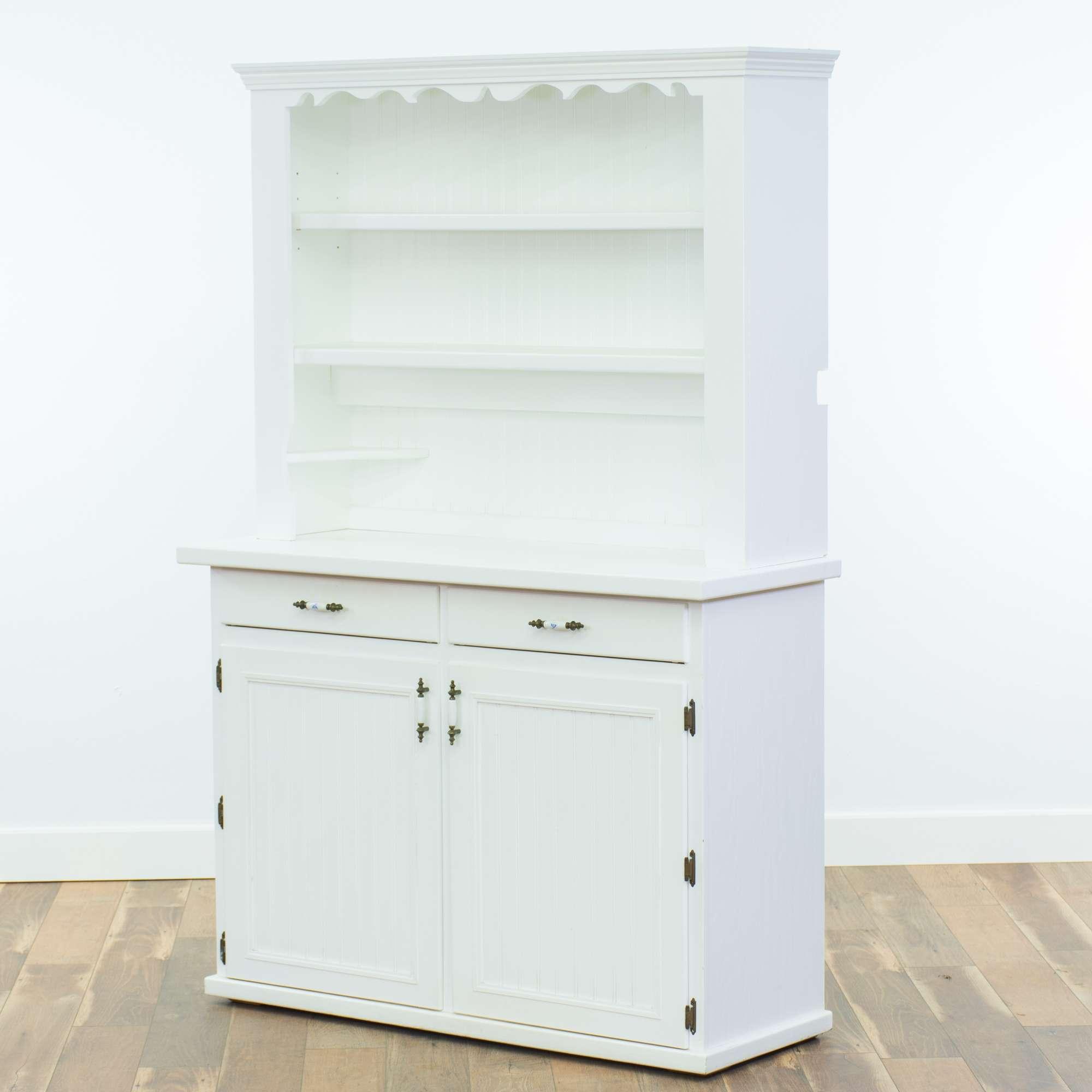 Modern White Butler\'S Pantry Kitchen Hutch | Loveseat ...
