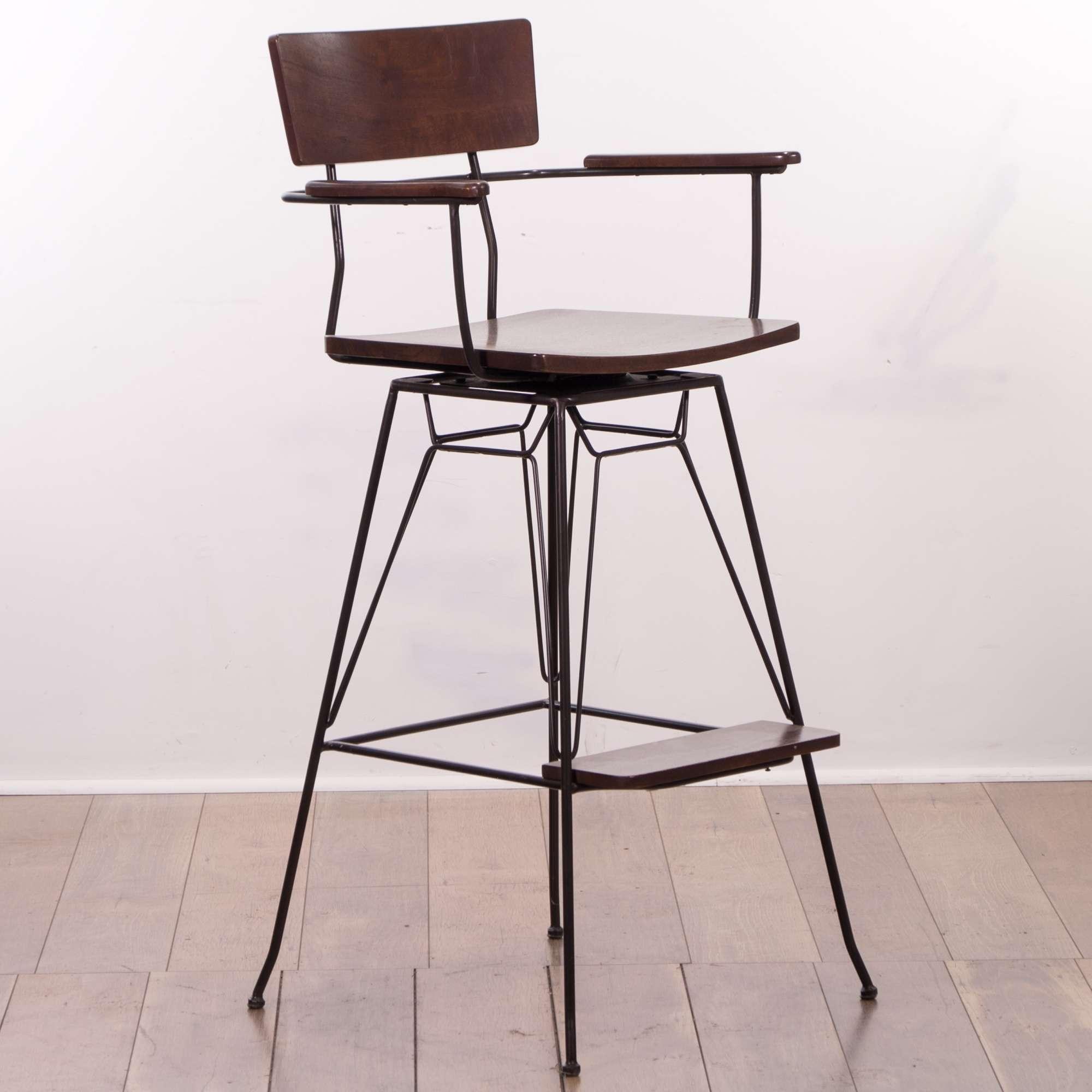 Marvelous 1940S Style Industrial Metal Frame Bar Stool Loveseat Cjindustries Chair Design For Home Cjindustriesco