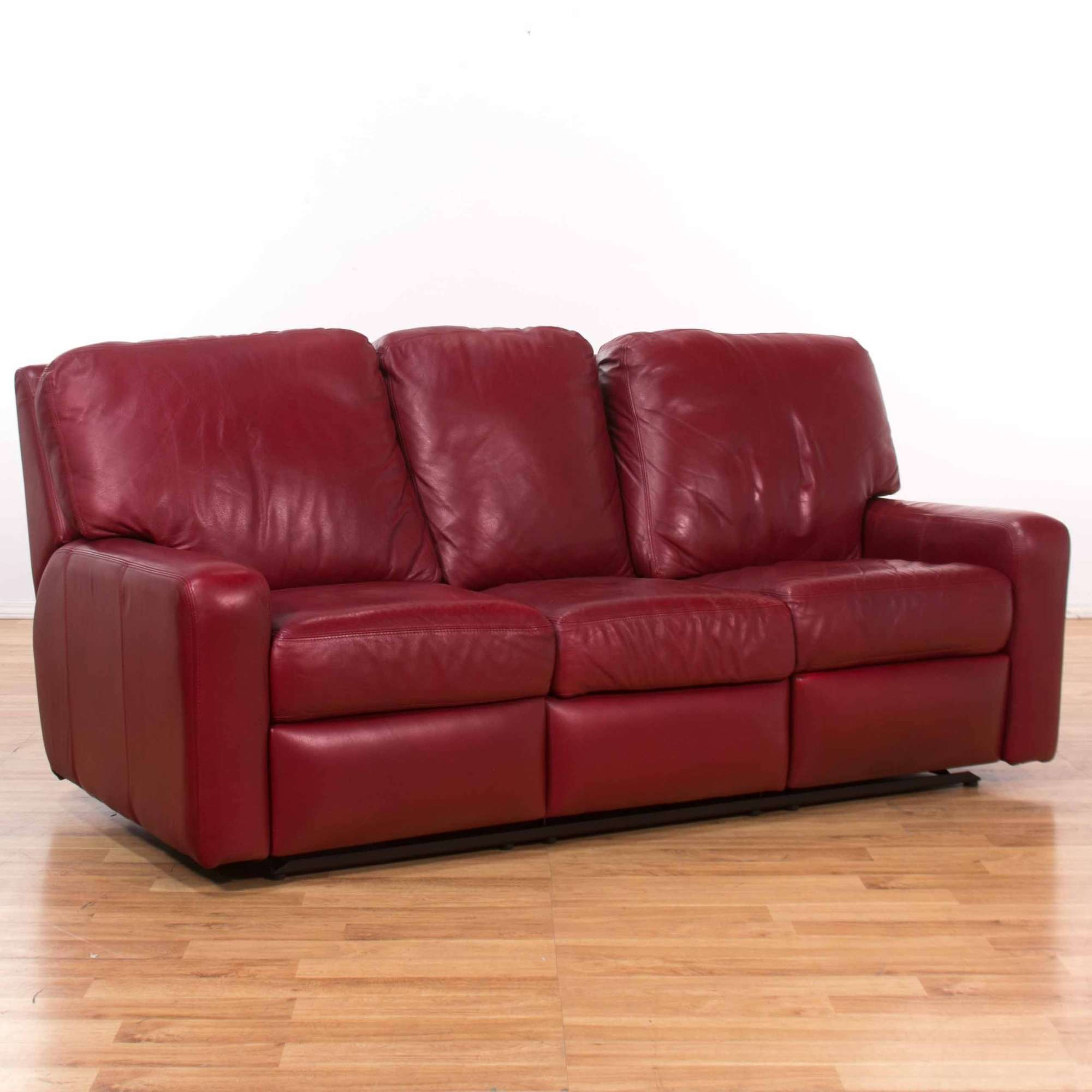 Outstanding Arizona Leather Red Reclining Sofa Loveseat Vintage Ocoug Best Dining Table And Chair Ideas Images Ocougorg