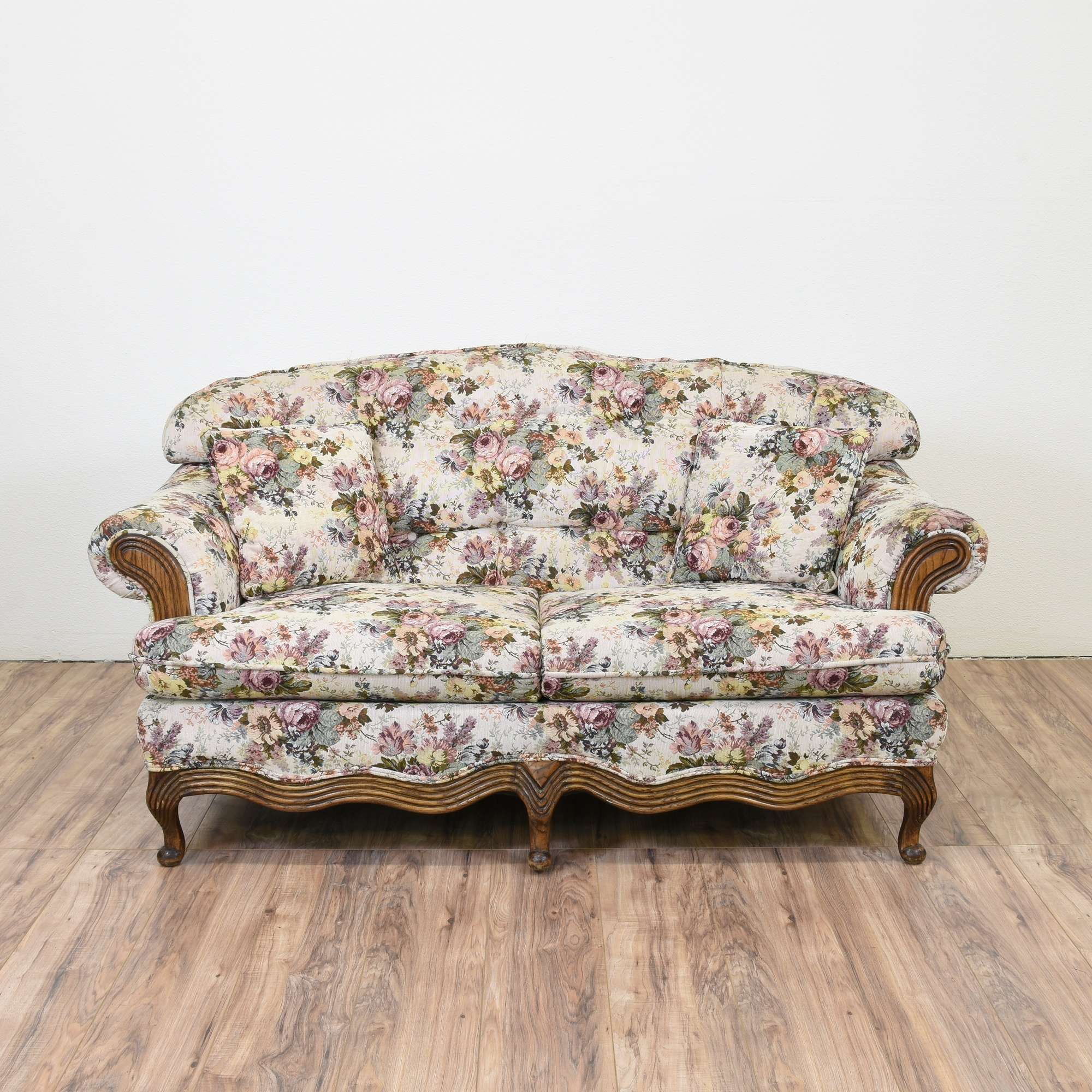 detail product sofa kathy kuo ivory country paisley french home beige loveseat chambery upholstered
