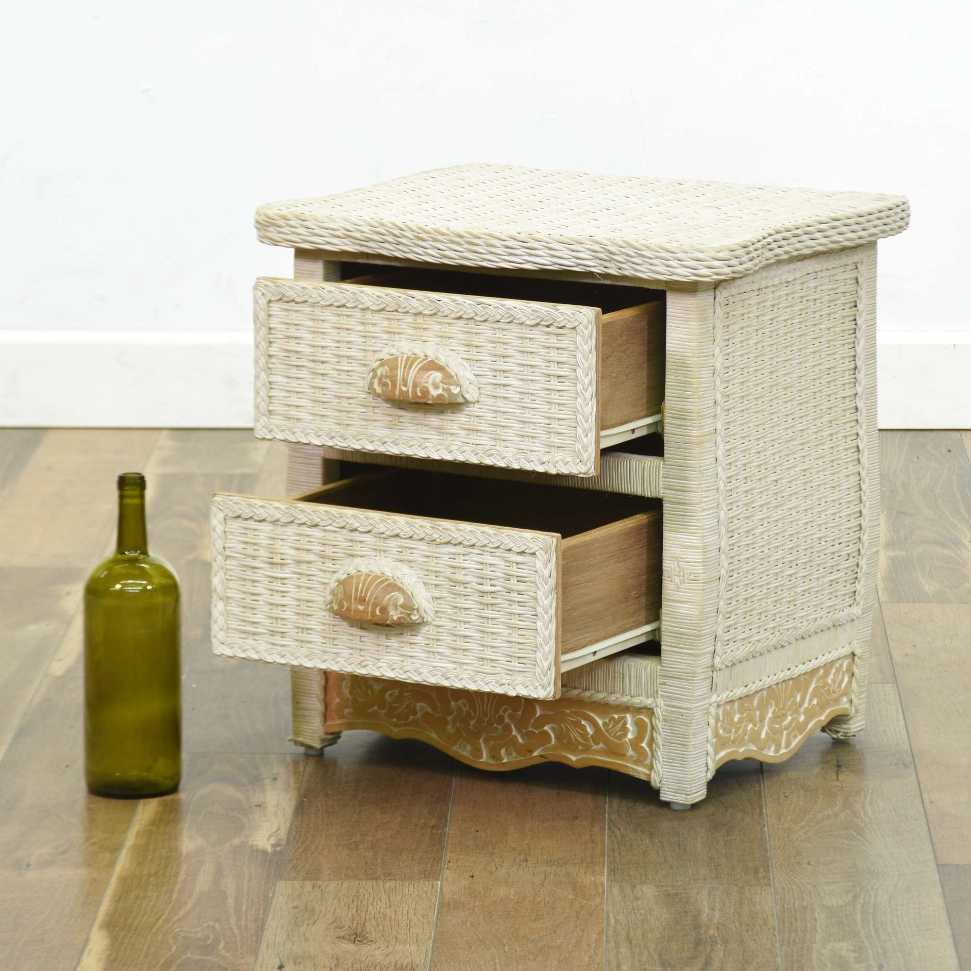 Pier 1 Imports Jamaica Collection Wicker Nightstand ...
