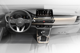 Kia gives us a quick look at the interior of its new SUV dubbed the 'Tusker'