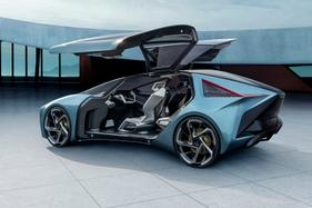 Lexus has offered a stunning look at its first electric vehicle at the Tokyo motor show