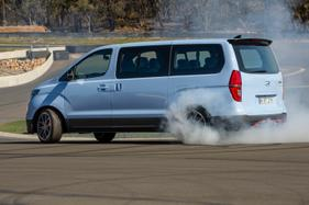 TRACK TEST: Drop a big turbo V6 in a van, and you get the iMax N 'Drift Bus'!