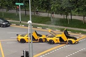 Two Lamborghini V12s collide in million-dollar crash