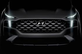 Teaser images show a major facelift for the 2021 Hyundai Santa Fe