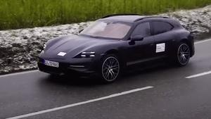 Porsche's electic performance wagon will be revealed next month