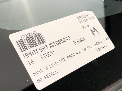 Isuzu D-MAX LS-U LS-U Utility Crew Cab 4dr Spts Auto 5sp 4x4 3.0DT [MY15.5]