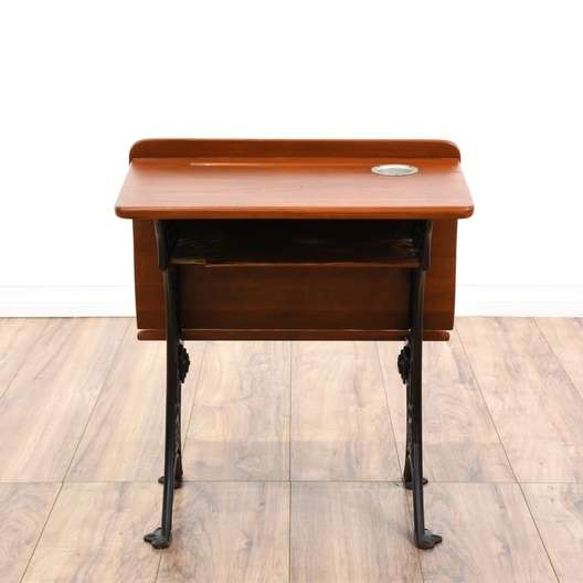 Next - Early American Antique School Desk Loveseat Vintage Furniture San