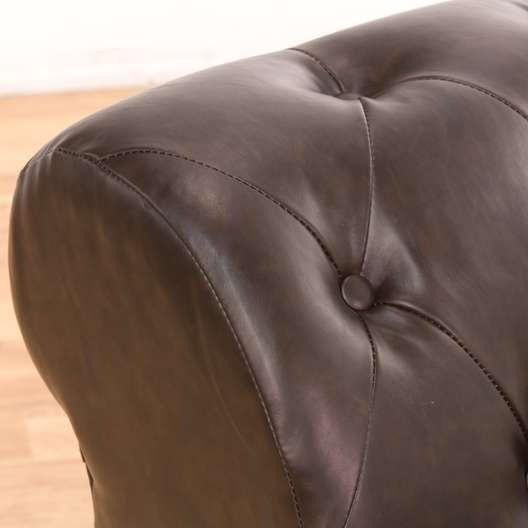 Astounding Chesterfield Style Brown Leather Slipper Accent Chair Creativecarmelina Interior Chair Design Creativecarmelinacom