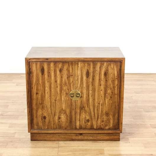 Drexel 2 Door Wood Cabinet W Brass Hardware Loveseat Vintage