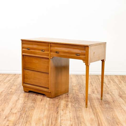 Mid Century Modern 4 Drawer Desk