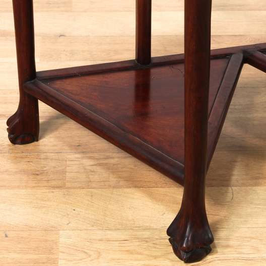 Half Moon Asian Rosewood Console Table Loveseat Vintage