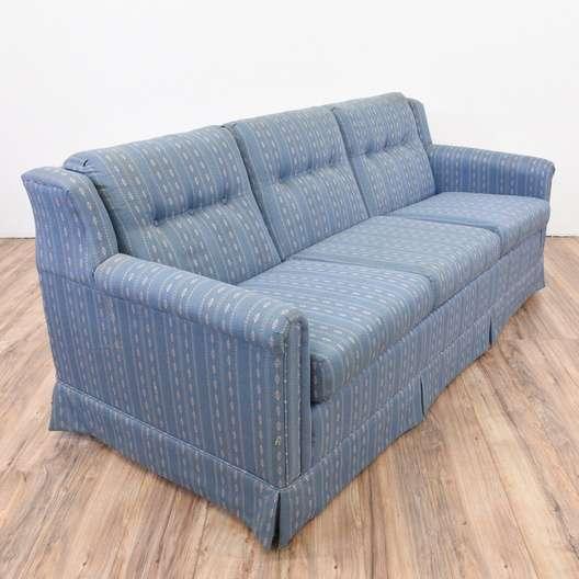 """""""La-Z-Boy"""" Blue Striped Sofa"""
