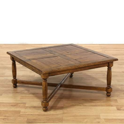 Ethan Allen Farmhouse Pine Coffee Table: Vintage & Used Country Farmhouse Furniture In San Diego