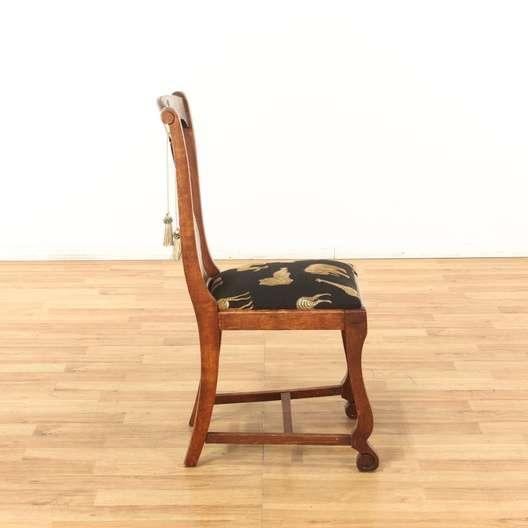 Incredible Wood Dining Chair W Safari Animal Motif Loveseat Vintage Uwap Interior Chair Design Uwaporg