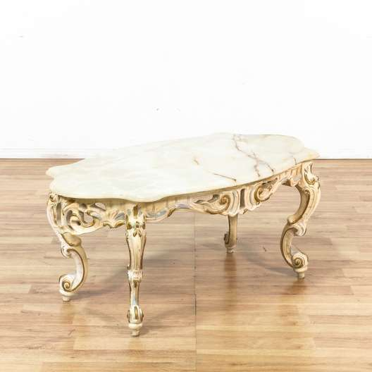 Victorian Coffee Table Furniture: Victorian Quartz Top Carved Coffee Table