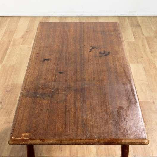 Danish modern teak long coffee table loveseat vintage for Danish modern la