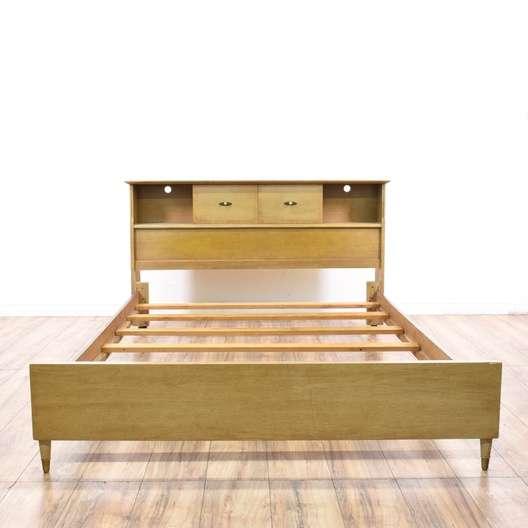 Mid Century Queen Bed Frame W Storage Headboard Loveseat Vintage Furniture San Diego