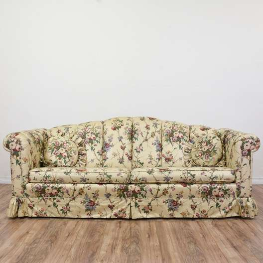 Floral Liberty Chintz Print Sofa Loveseat Vintage Furniture San Diego
