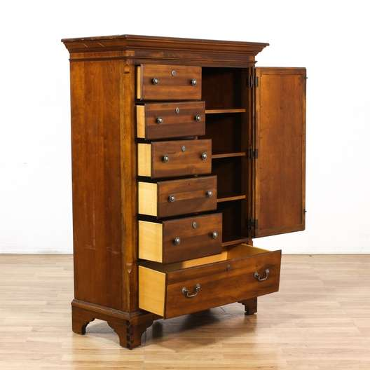 """Mirrored Armoire: """"Broyhill"""" 6 Drawer Mirrored Armoire"""