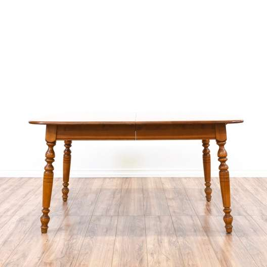 country maple dining table w 2 leaves  loveseat vintage