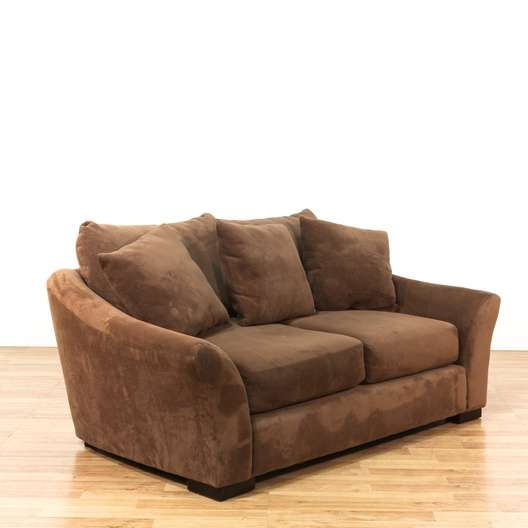 Contemporary Brown Microfiber Oversized Loveseat 500 248 Heart