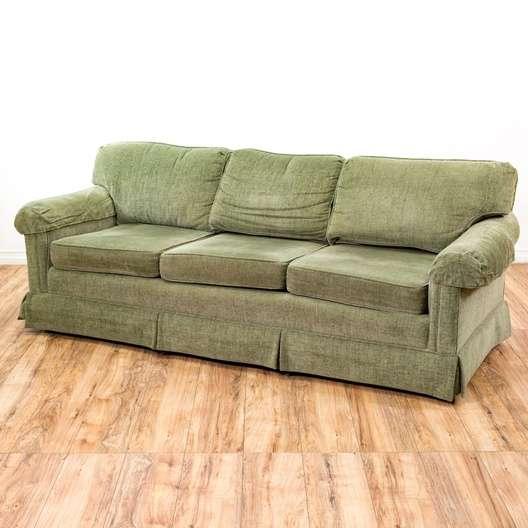 "Flexsteel Sofa Vintage: ""Flexsteel"" Oversized Sage Green Sofa"
