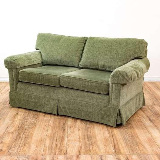 "Flexsteel Sofa Vintage: ""Flexsteel"" Oversized Sage Green Loveseat"