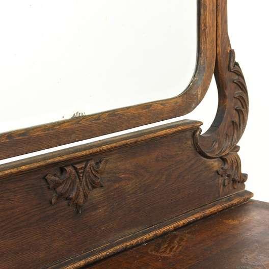 Antique Serpentine 4 Drawer Dresser W Mirror Loveseat