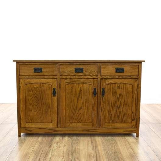 Mission Style Oak Sideboard Buffet