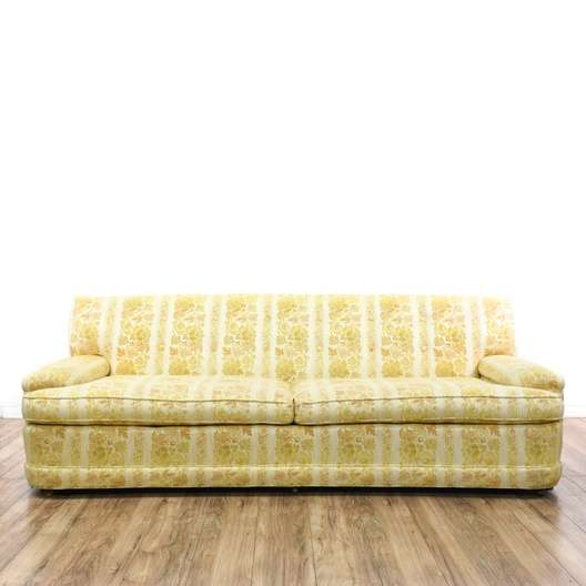 Mid Century Modern Yellow Floral Sofa | Loveseat.com San Diego