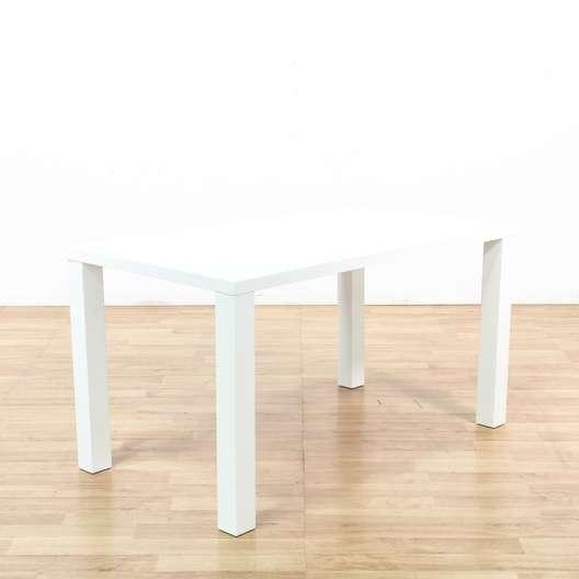 Superb Modern Block Leg White Glossy Dining Table Loveseat Uwap Interior Chair Design Uwaporg