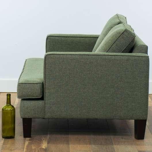 The Sofa Company Modern Green Grey Loveseat | Loveseat ...