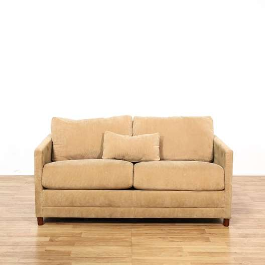 Baker Brown Corduroy Loveseat Sleeper Sofa