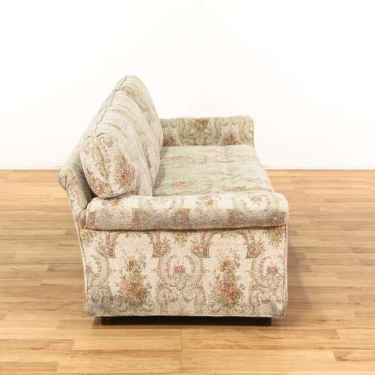 Antique Tapestry Sofa: Cottage Chic Floral Tapestry Sofa
