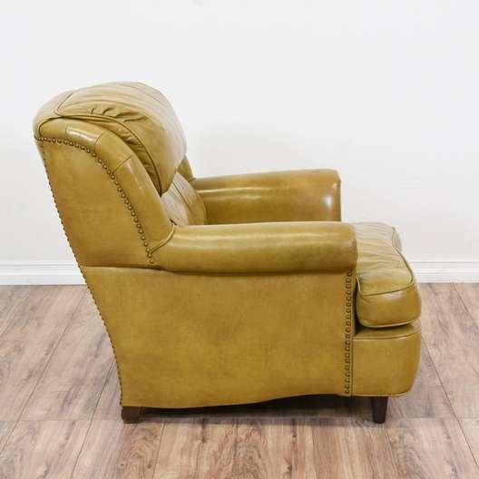 Outstanding Schafer Bros Retro Leather Armchair Loveseat Vintage Machost Co Dining Chair Design Ideas Machostcouk