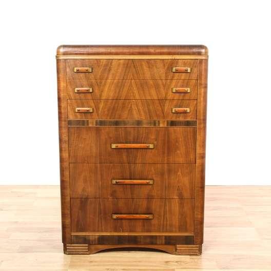 Forsyth Art Deco Kitchen Interior Design San Diego: Art Deco Waterfall 6 Drawer Tall Dresser