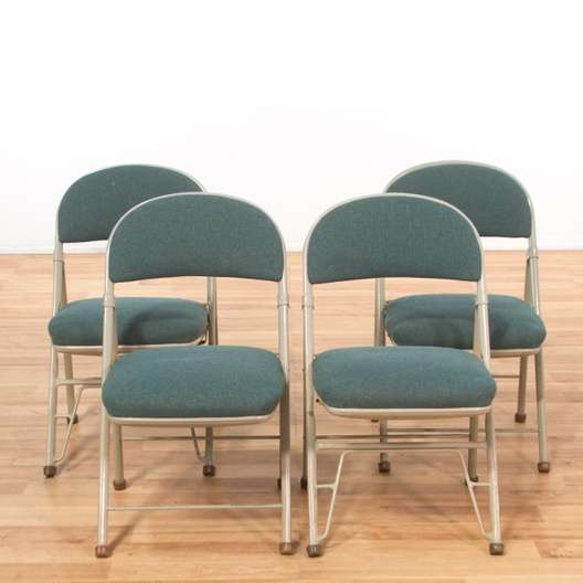Set Of 4 American Seating Company Folding Chairs 2