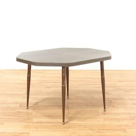 Mid Century Modern Dining Table W Metal Bronze Legs Loveseat Los Angeles