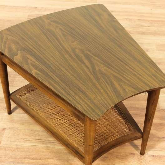 Quot Lane Quot Mid Century Modern End Table W Cane Shelf
