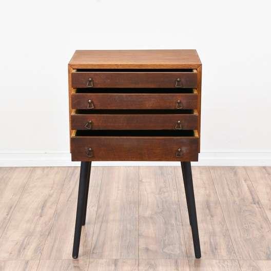 Mid century modern jewelry armoire loveseat vintage for Juno vintage modern jewelry armoire