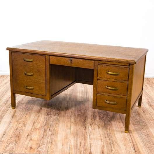 Jasper Mid Century Modern Executive Desk Loveseat Vintage