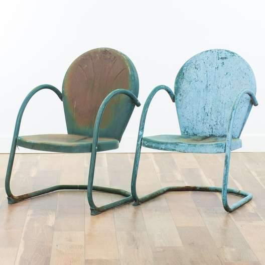 Superb Pair Of Vintage Teal Green Griffith Patio Chairs Loveseat Com San Diego Download Free Architecture Designs Scobabritishbridgeorg