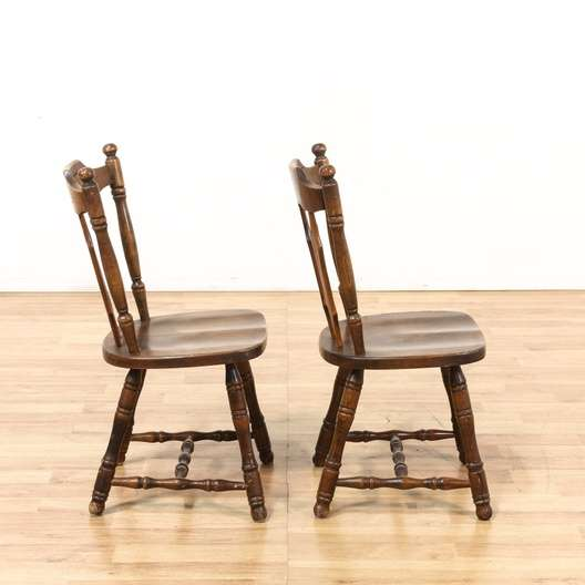 Astounding Pair Of Scalloped Wood Chairs Made In Yugoslavia Ocoug Best Dining Table And Chair Ideas Images Ocougorg