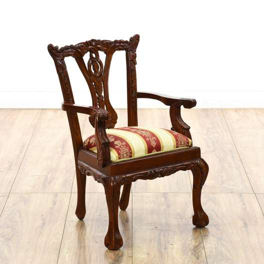 Sman Sample Chippendale Style Child Doll Chair