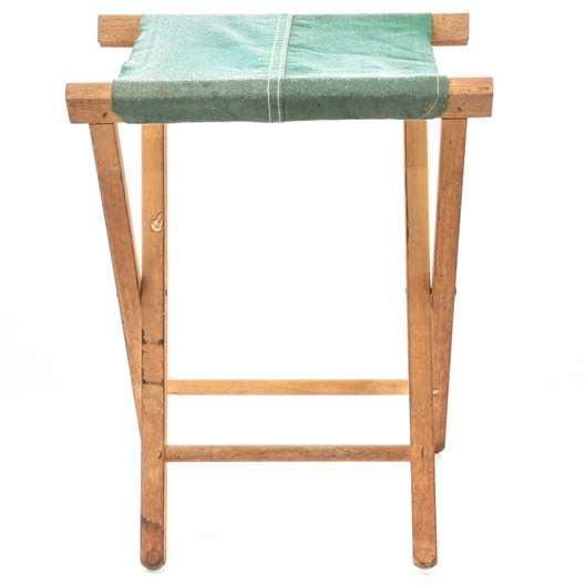 Peachy Vintage Folding Green Canvas Sling Stool Loveseat Vintage Onthecornerstone Fun Painted Chair Ideas Images Onthecornerstoneorg